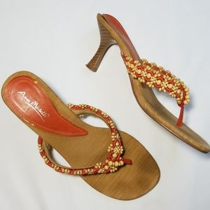 Anne Michelle Beaded Sandals